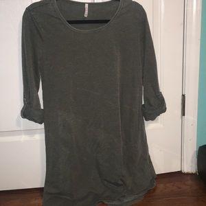 Z Supply Army Green T Shirt Dress